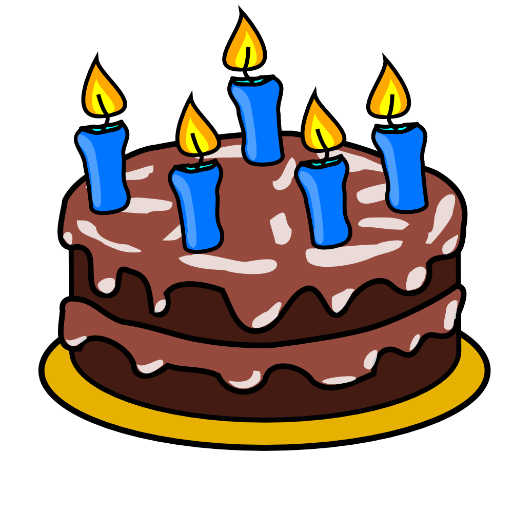 Free Clip Art Images Cake : OnlineLabels Clip Art - Chocolate Birthday Cake