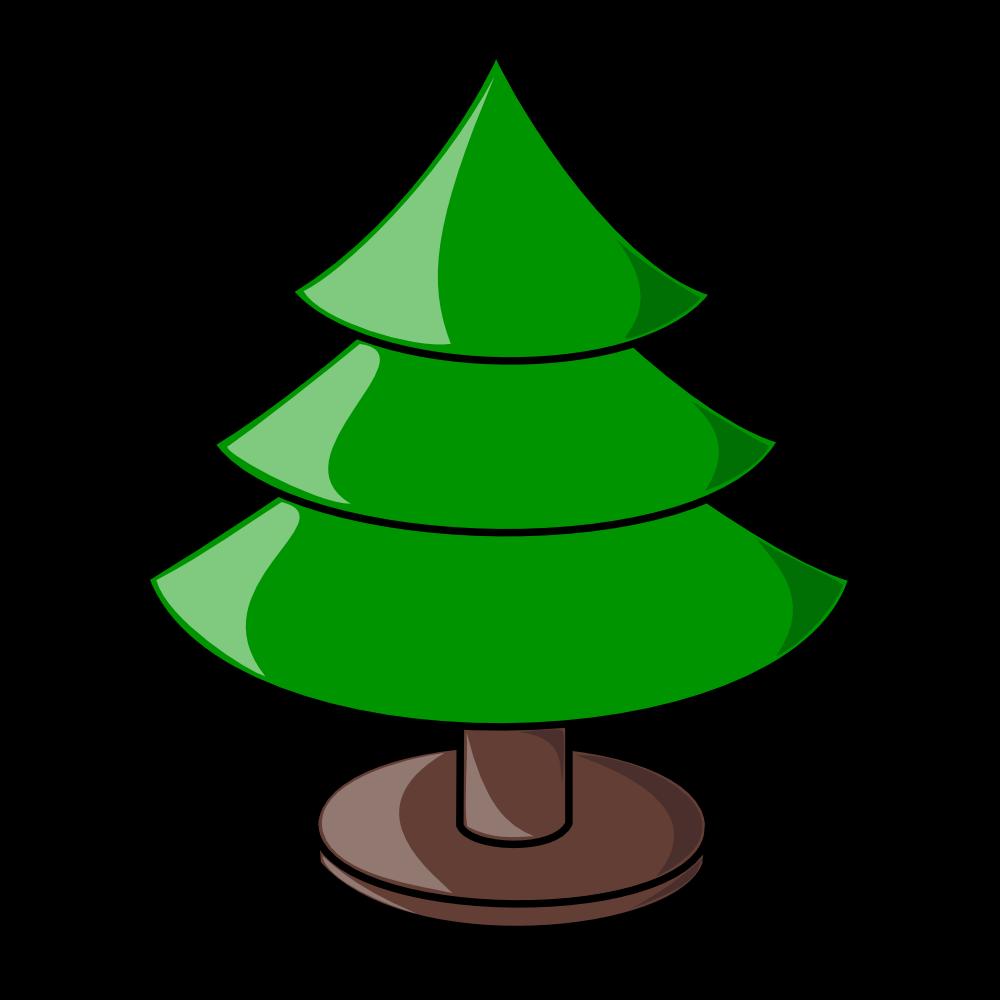 OnlineLabels Clip Art - Christmas Tree (Plain)
