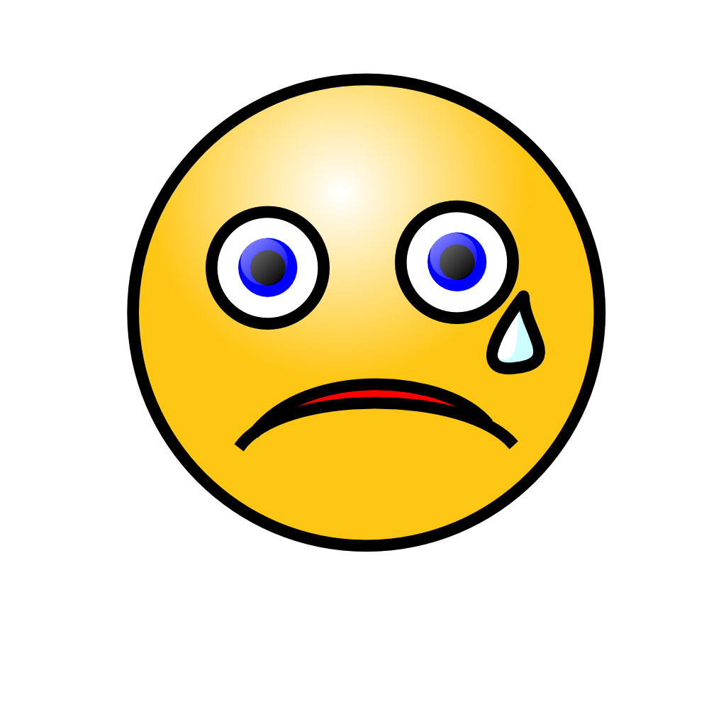 OnlineLabels Clip Art - Emoticons: Crying Face