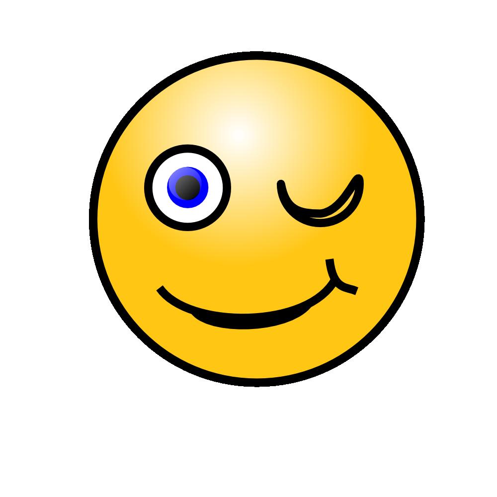 wink face clip art - 1000×1000