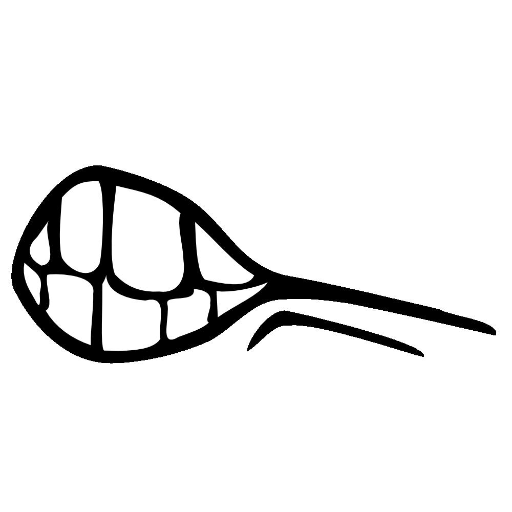 OnlineLabels Clip Art - Half Open Mouth