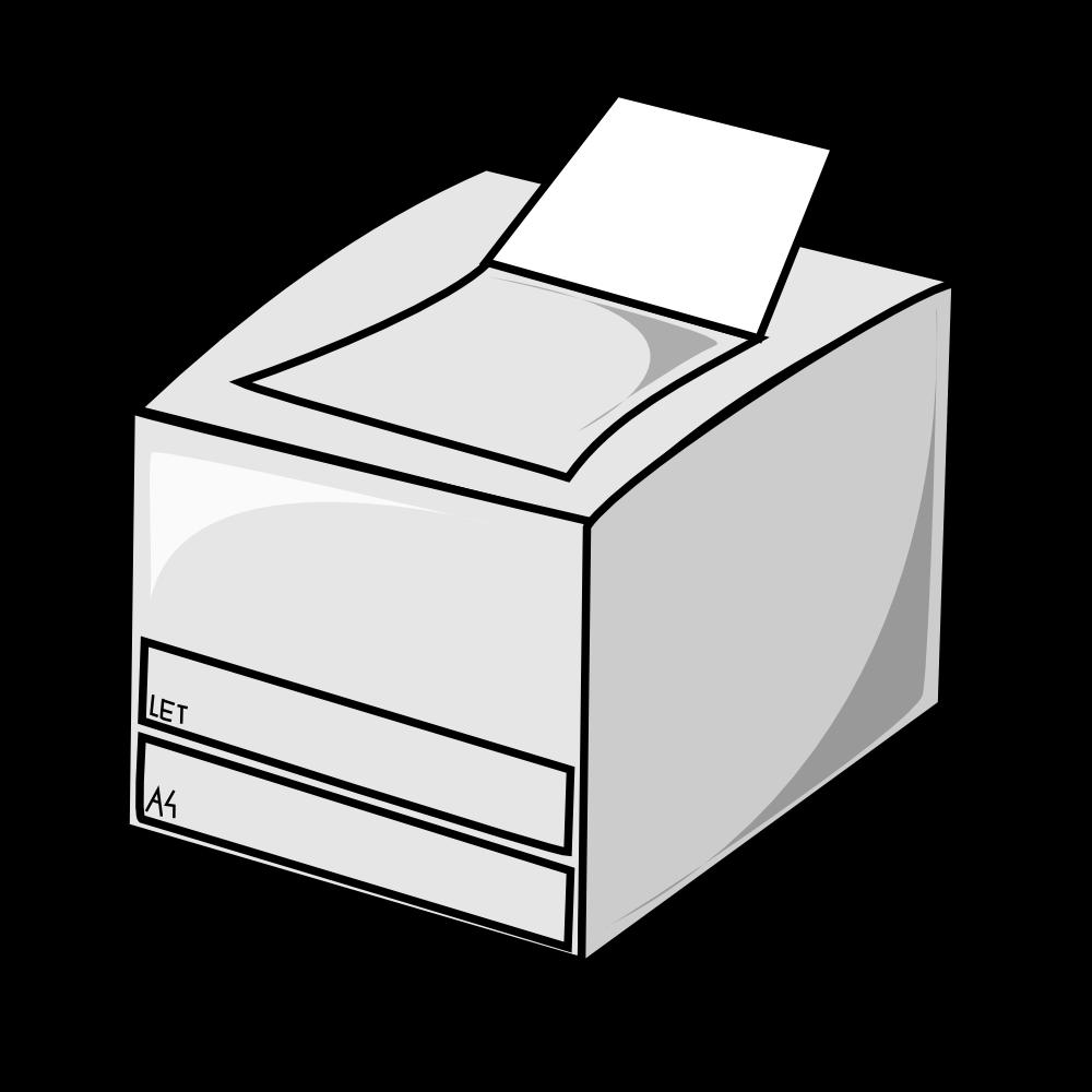 OnlineLabels Clip Art - Laser Printer