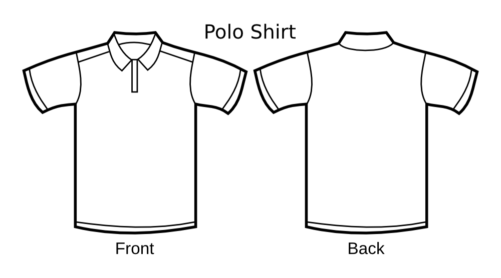 Onlinelabels Clip Art Polo Shirt Template