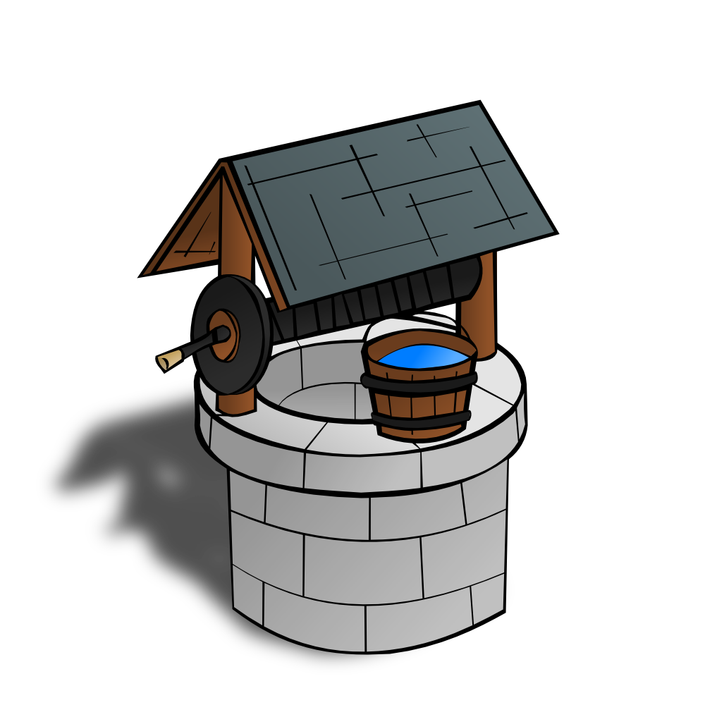 OnlineLabels Clip Art - RPG Map Symbols: Wishing Well