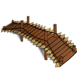 RPG map symbols: Wooden Bridge