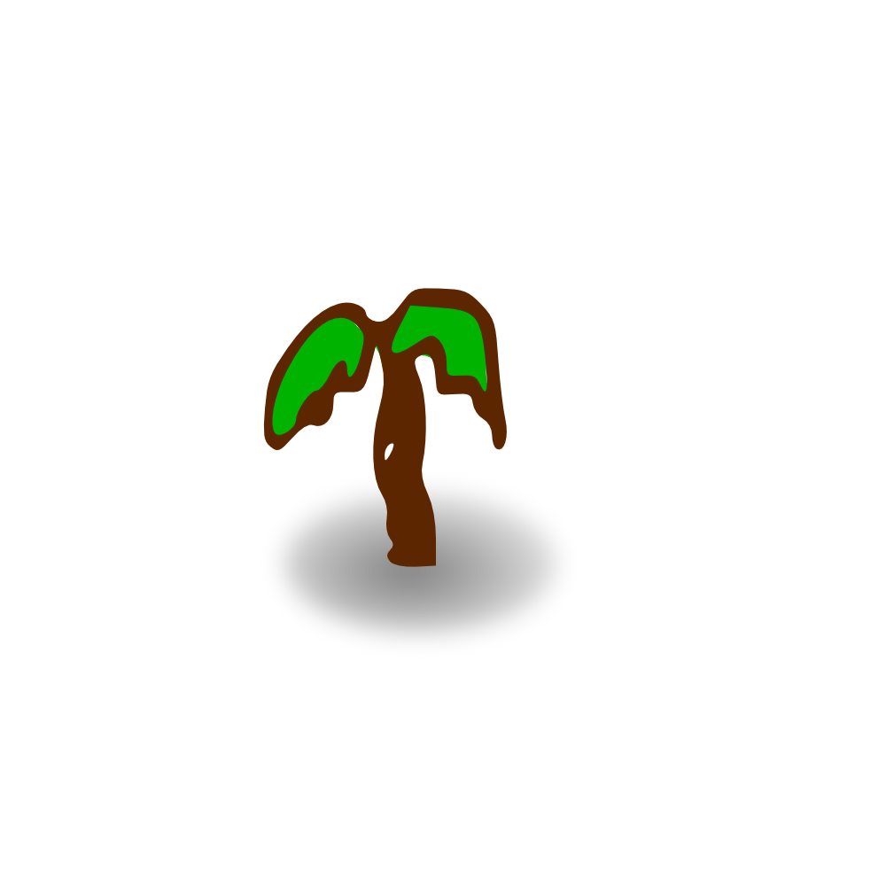 OnlineLabels Clip Art - Small Shaded Palm Tree