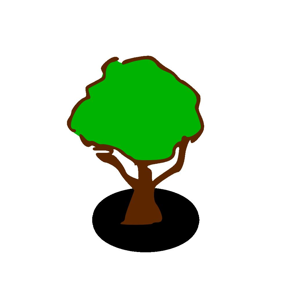 OnlineLabels Clip Art - RPG Map Symbols: Tree