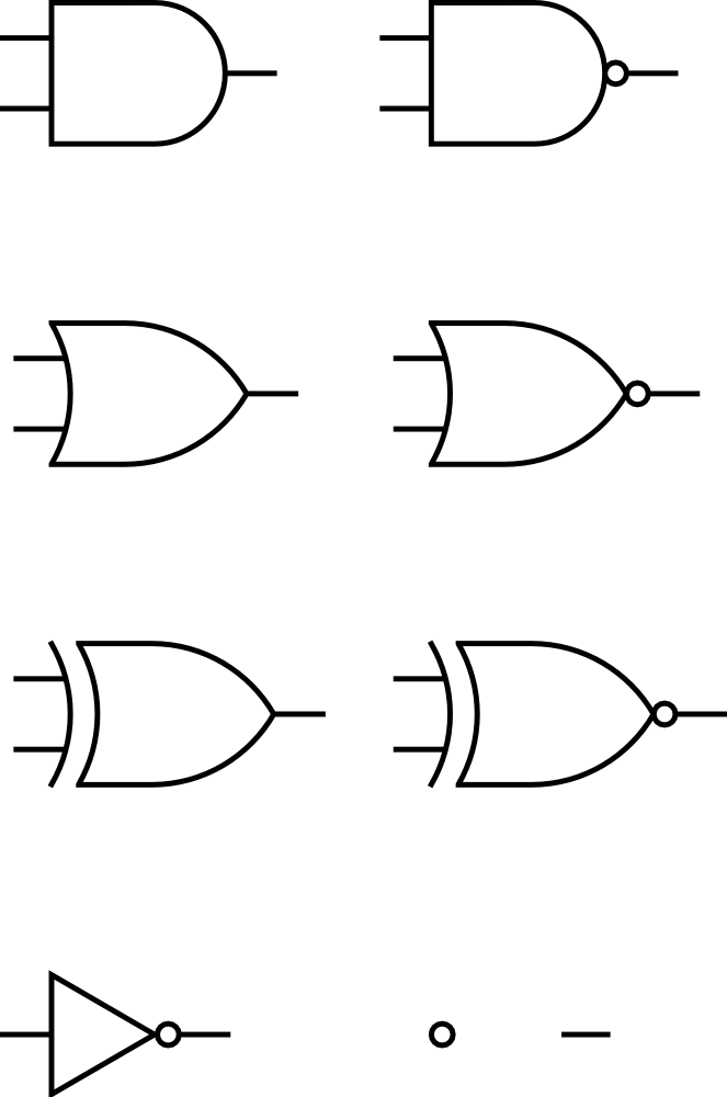 digital logic gates This is the second part of digital logic gates, the first part is right here: digital logic gates (part 1)in this instructable, we are going to cover the fundamentals of the following gates: nand, nor, xor also, we are going to observe the operations of the nand and nor gates through.