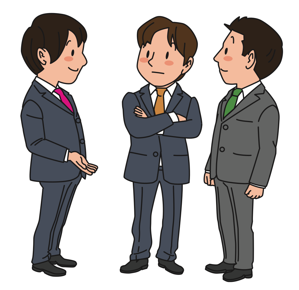 OnlineLabels Clip Art - Chatting Businessmen
