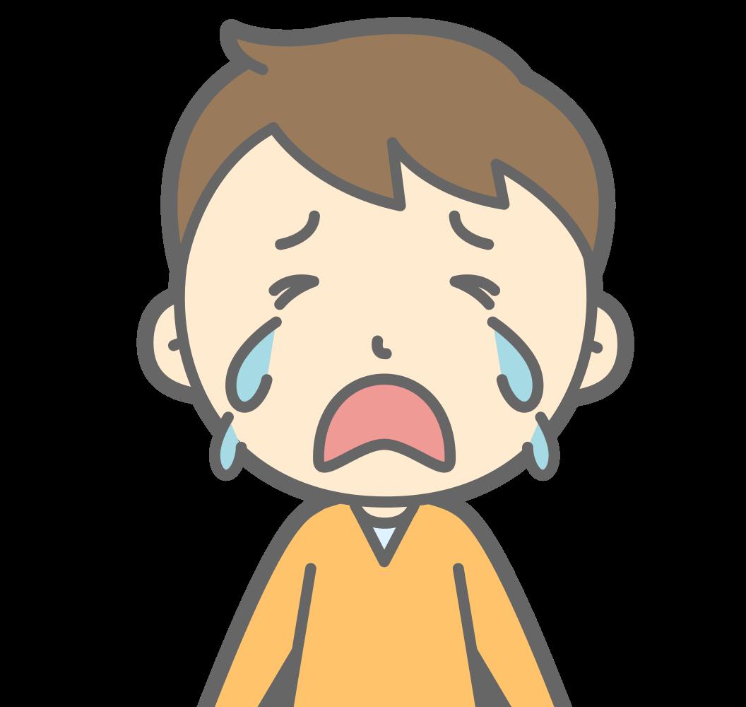 OnlineLabels Clip Art - Crying Boy