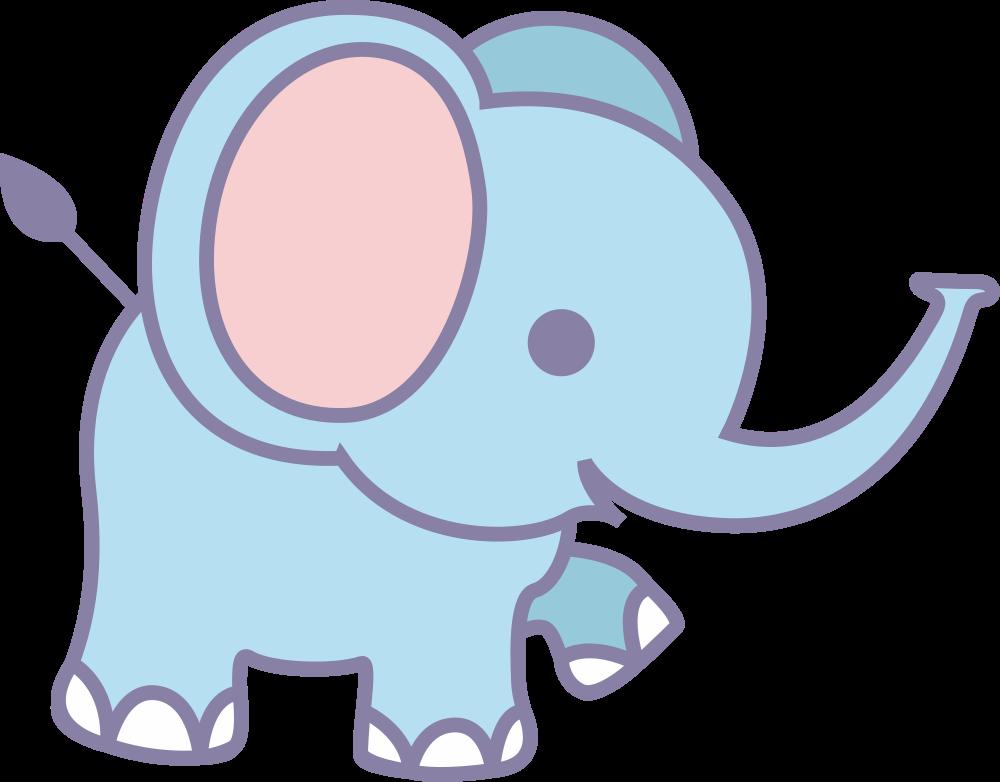 OnlineLabels Clip Art - Cute Elephant