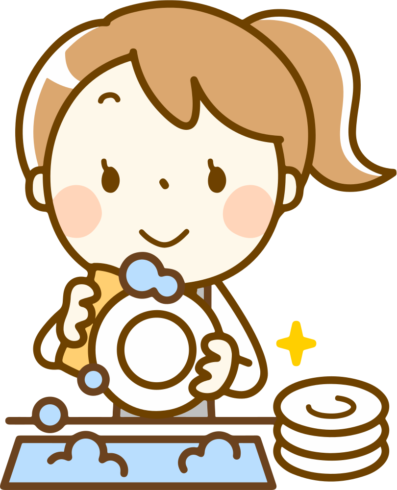 OnlineLabels Clip Art - Washing Dishes