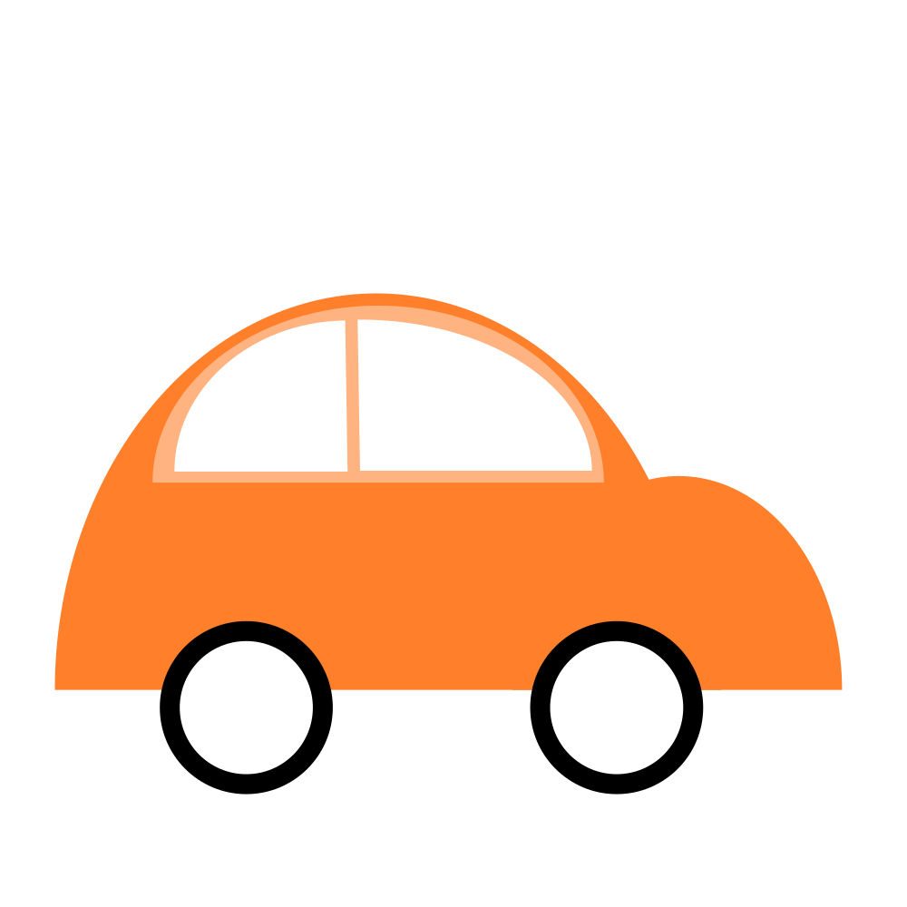 Car simple. Onlinelabels clip art flat