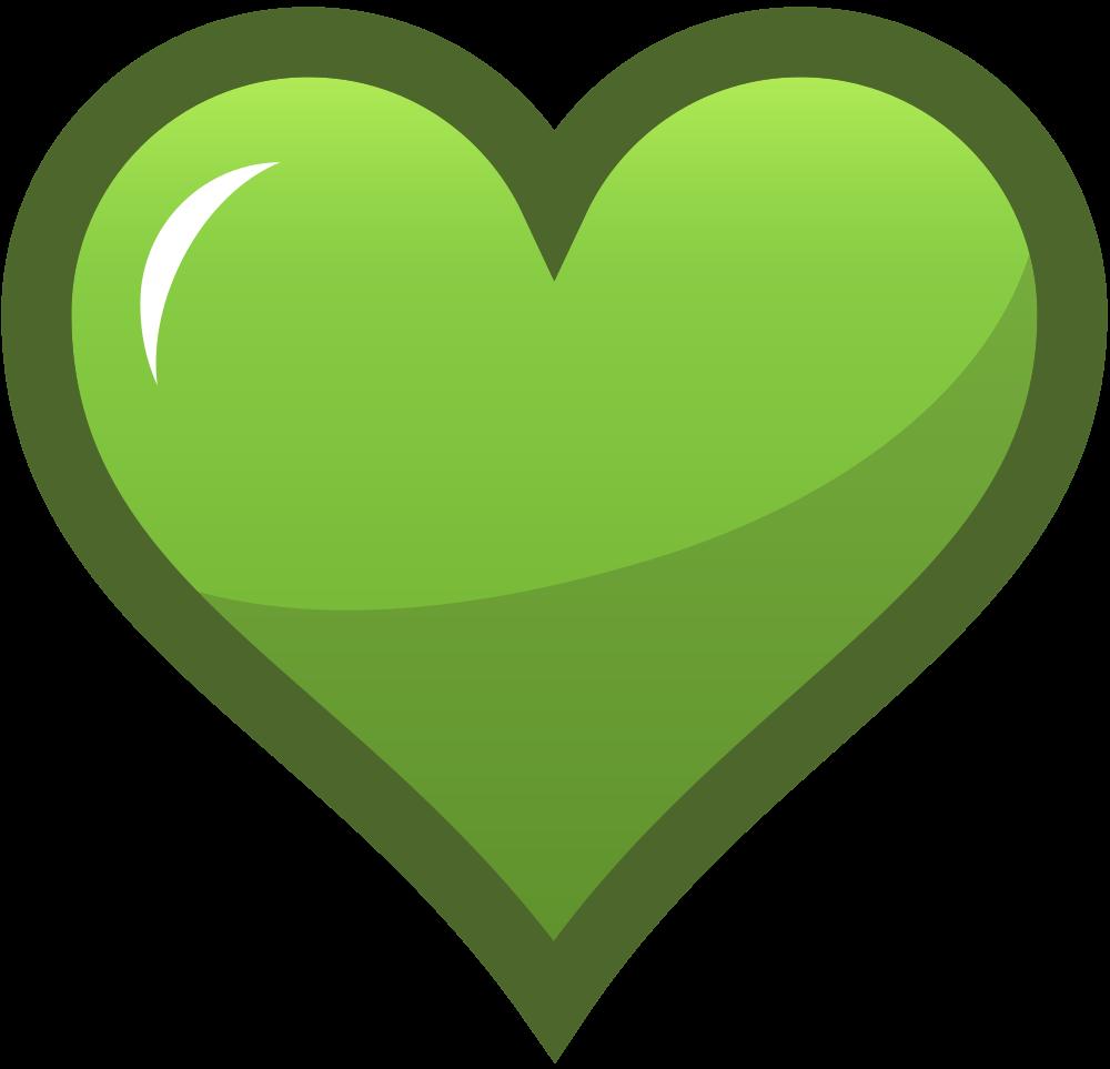 OnlineLabels Clip Art - Green Heart Icon