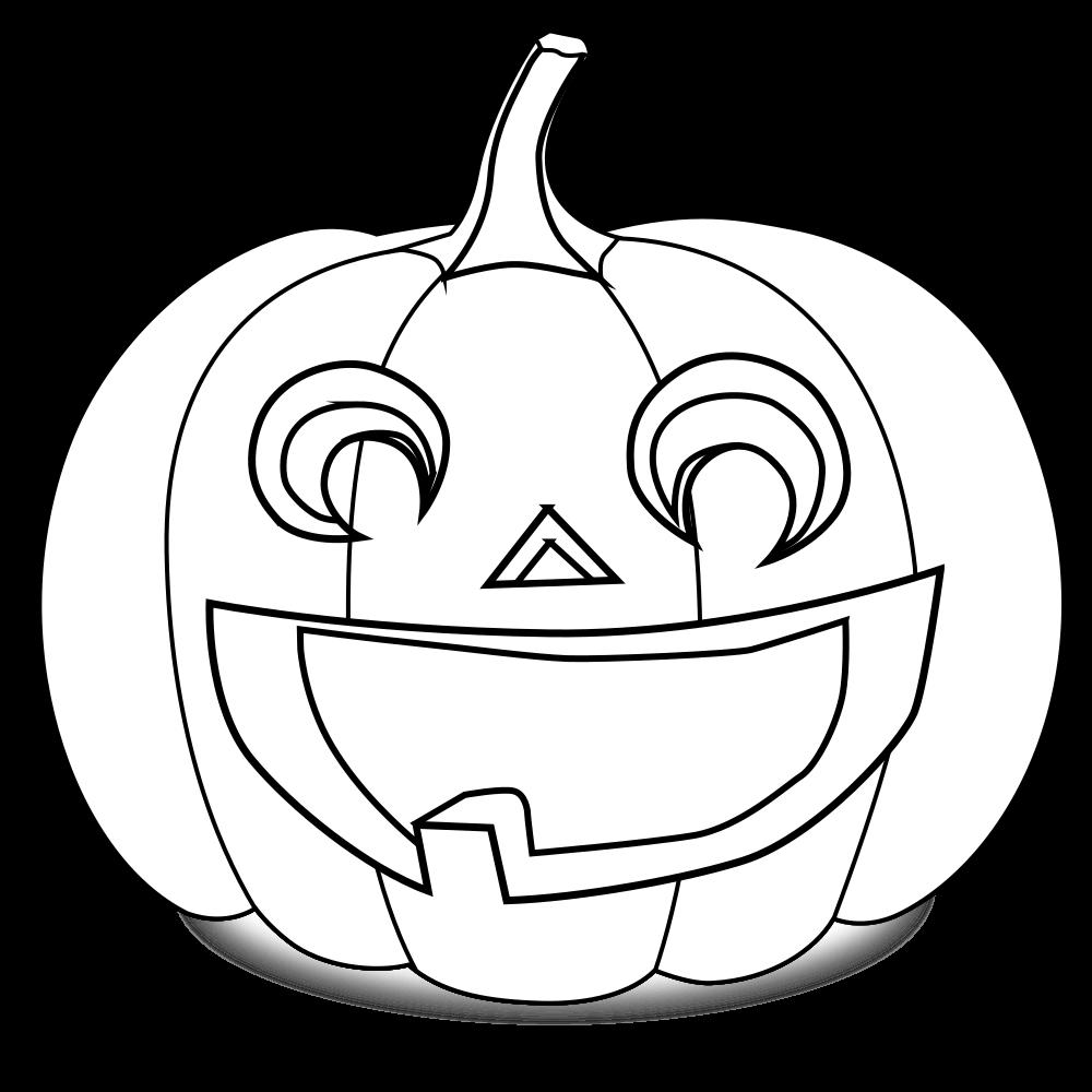 OnlineLabels Clip Art - Pumpkin Coloring Page