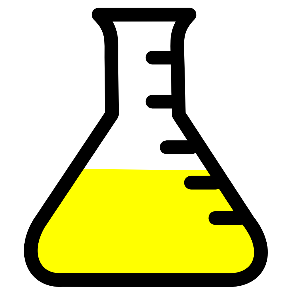OnlineLabels Clip Art - Lab Icon - Flask With Yellow