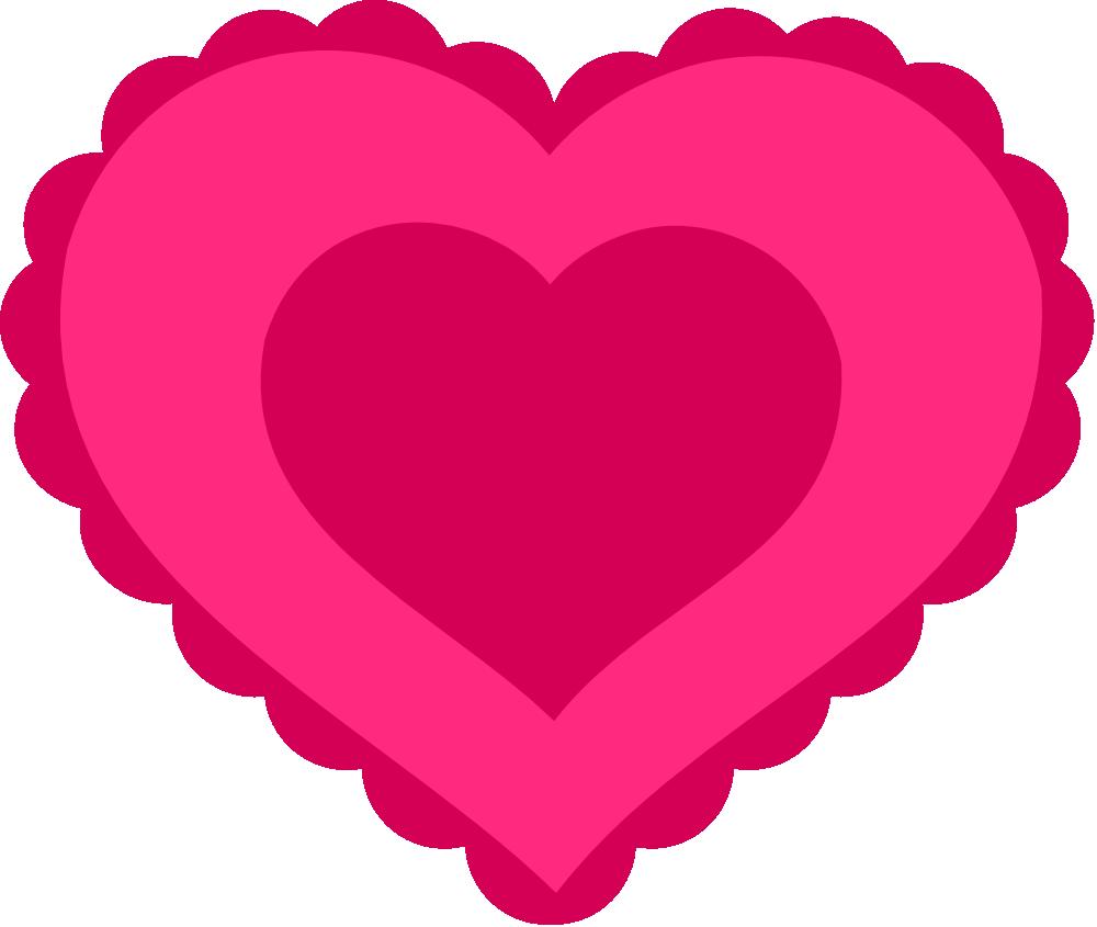 OnlineLabels Clip Art - Pink Lace Heart