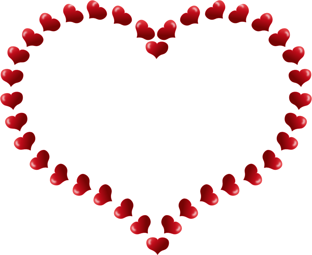 OnlineLabels Clip Art - Red Heart Shaped Border With ...