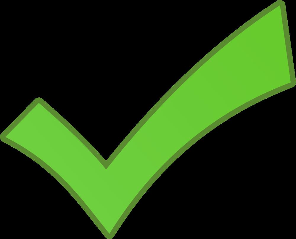 OnlineLabels Clip Art - Green Checkmark