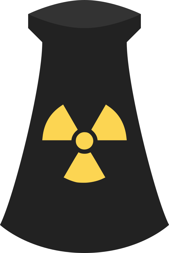 OnlineLabels Clip Art - Nuclear Power Plant Icon Symbol 3
