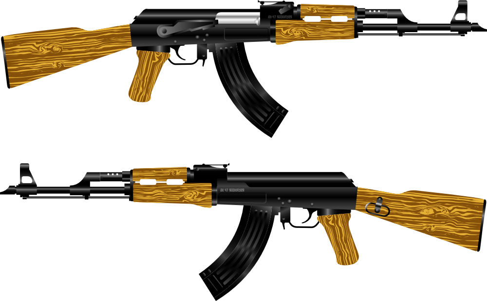 This is a photo of Agile Drawing Of Ak 47