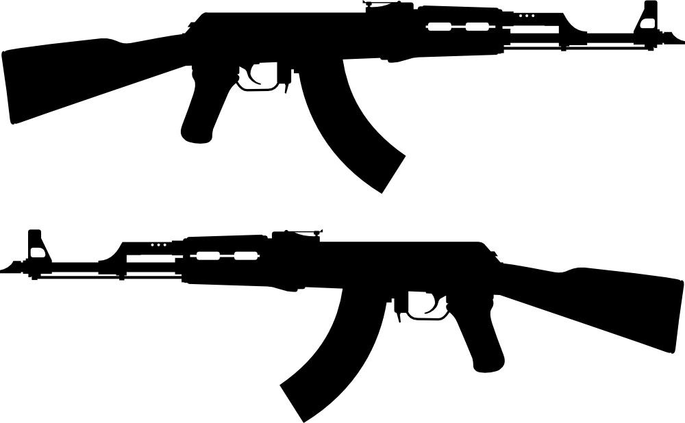 onlinelabels clip art - ak 47 rifle silhouette