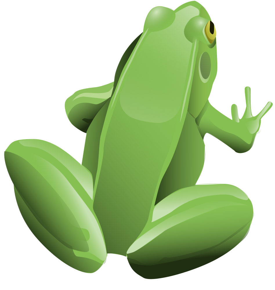 OnlineLabels Clip Art - Cool Frog