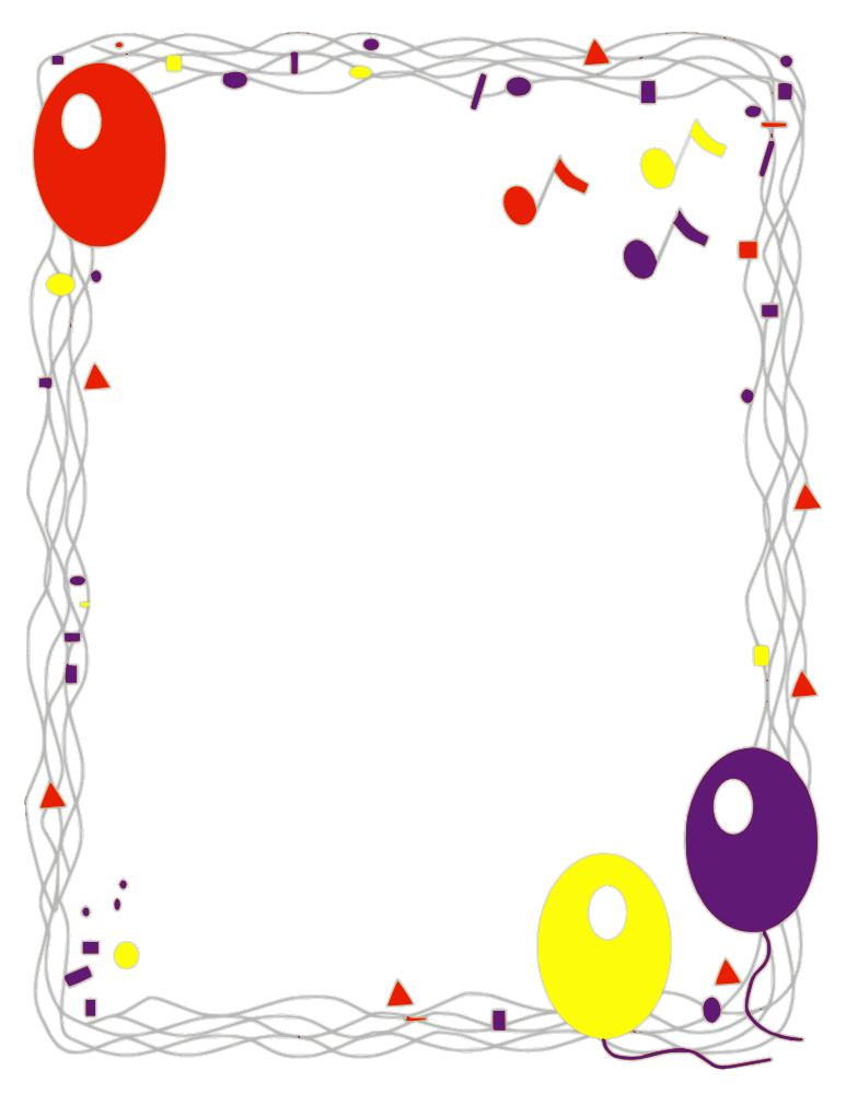 free clip art borders balloons - photo #20