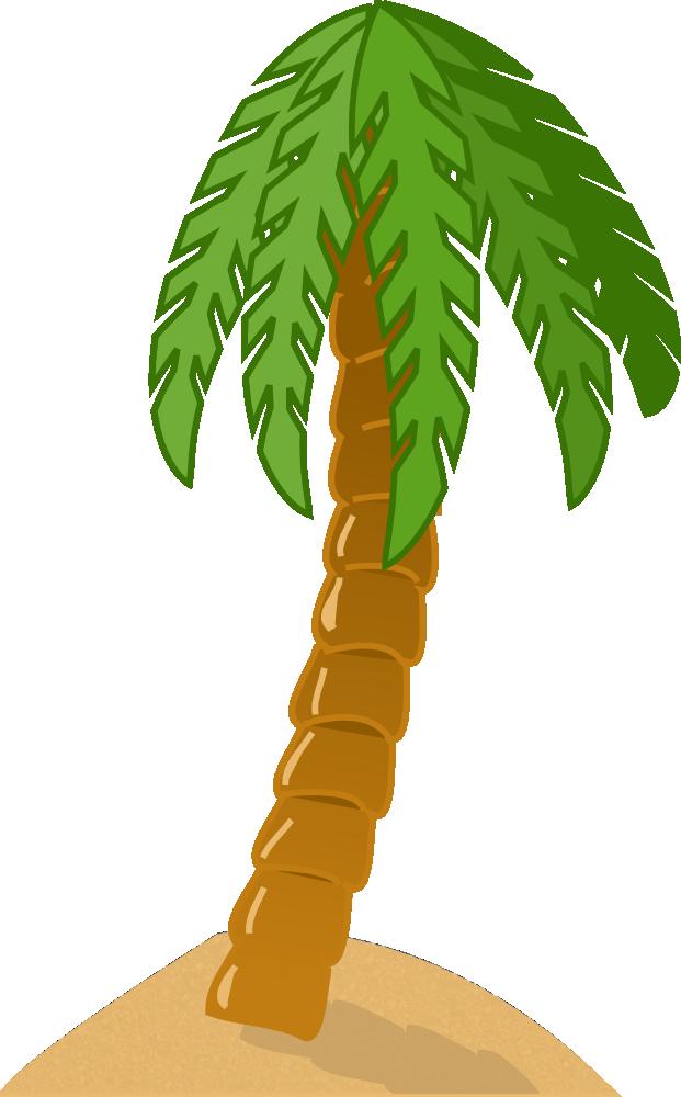 Onlinelabels Clip Art Palm Tree On Island