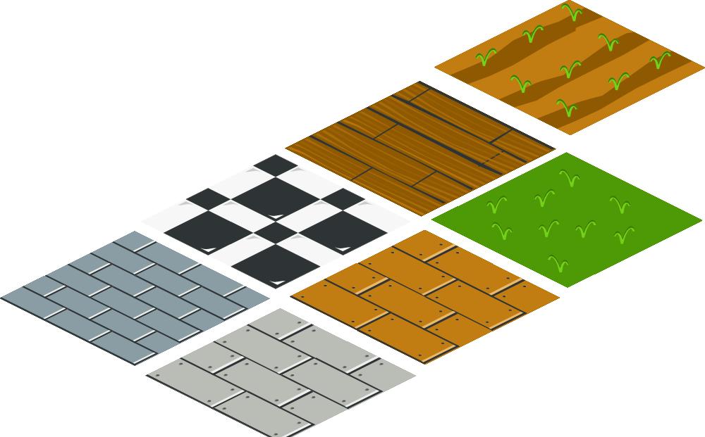 OnlineLabels Clip Art - Isometric Floor Tile