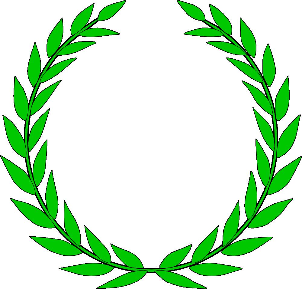 OnlineLabels Clip Art - Laurel Wreath
