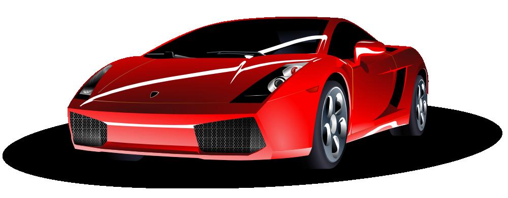 OnlineLabels Clip Art - Red Lamborghini (1000 x 391 Pixel)