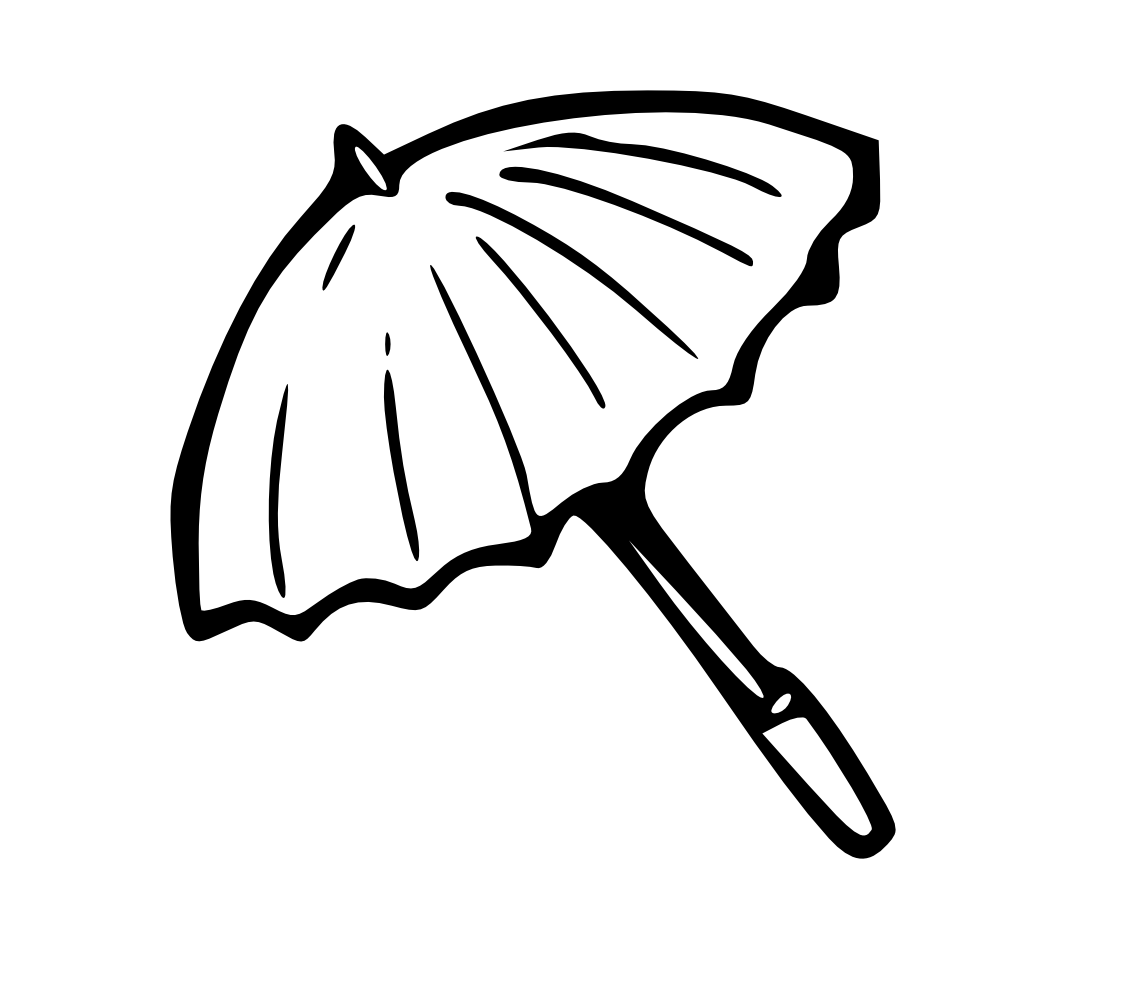 Line Drawing Umbrella : Onlinelabels clip art umbrella outline