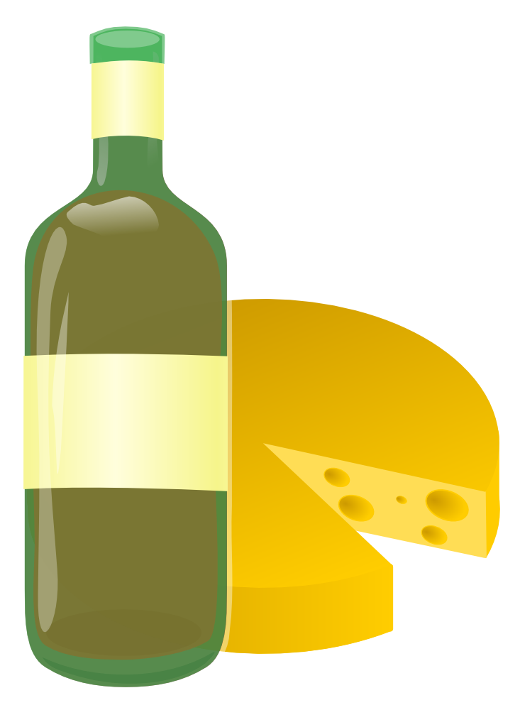 OnlineLabels Clip Art - Wine And Cheese