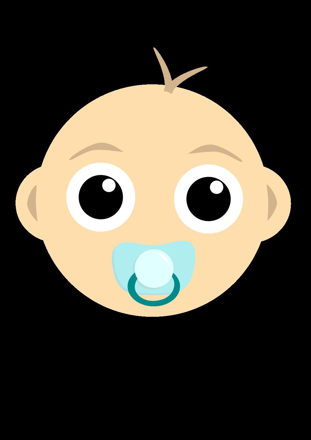 OnlineLabels Clip Art - Baby Head