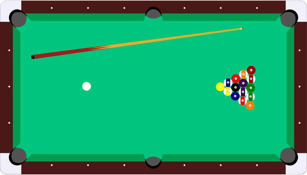 pool table coloring pages - onlinelabels clip art pool table cue balls