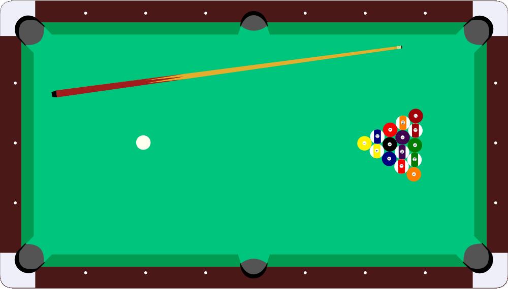 Onlinelabels Clip Art Pool Table Cue Balls