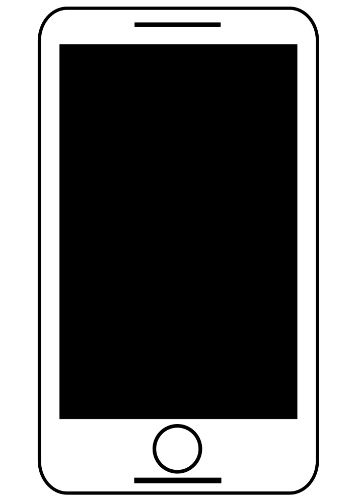 OnlineLabels Clip Art - Smartphone - Tablet Black And ... Tablet Clipart Black And White