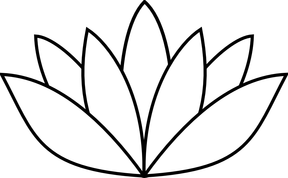 OnlineLabels Clip Art - White Lotus Flower