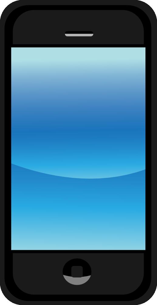 Onlinelabels Clip Art Modern Touch Phone Mobile