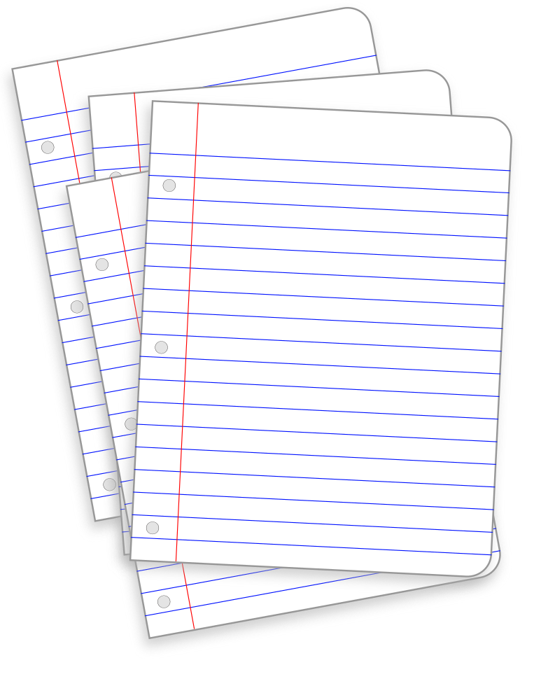 OnlineLabels Clip Art Messy Lined Papers – Lined Papers