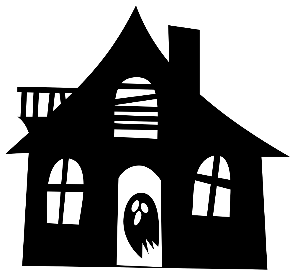 Onlinelabels Clip Art Haunted House Silhouette