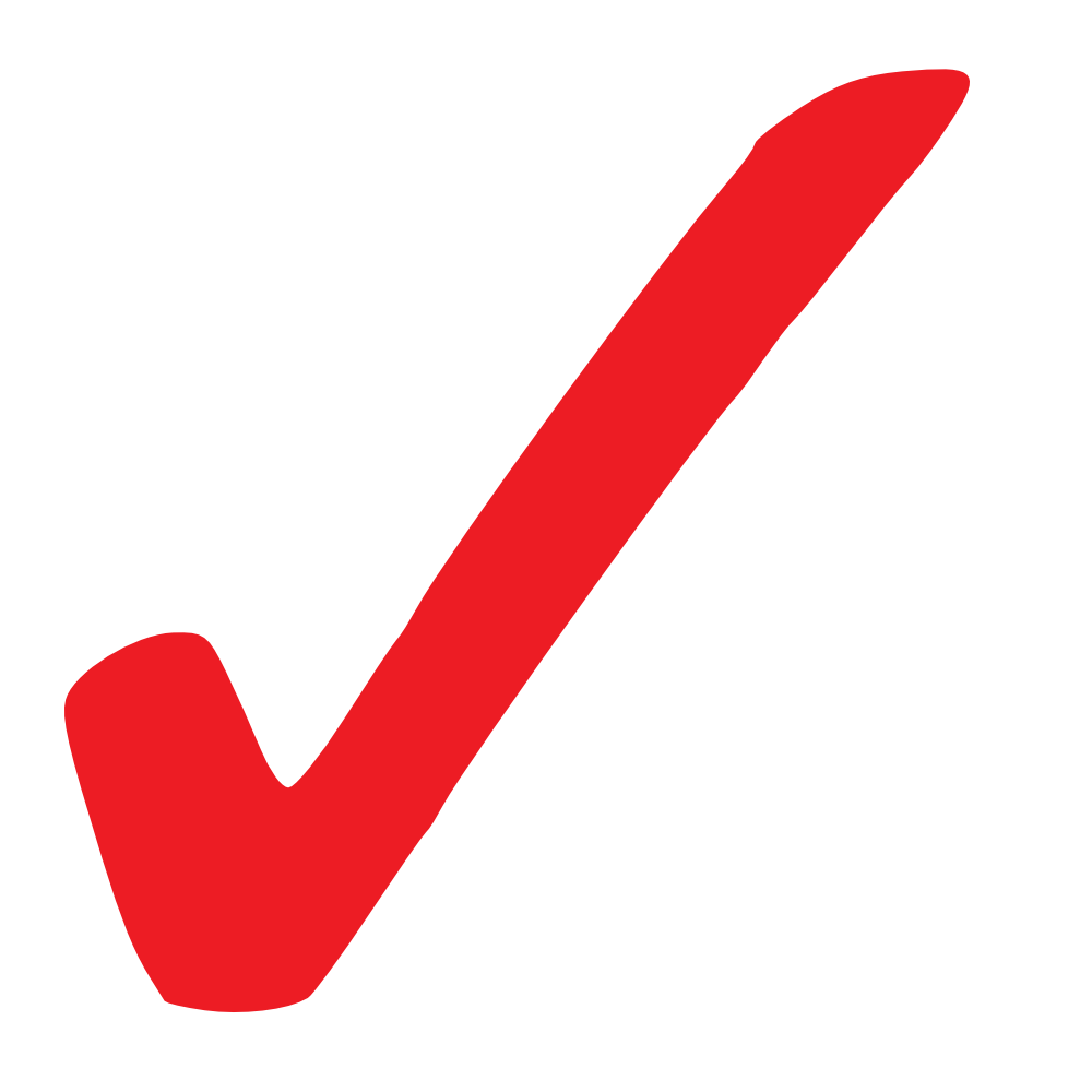 OnlineLabels Clip Art - Simple Red Checkmark