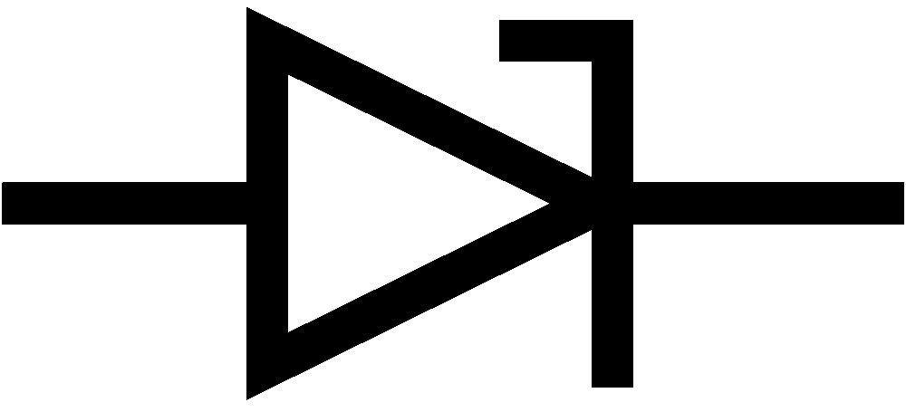 Onlinelabels Clip Art Iec Zener Diode Symbol