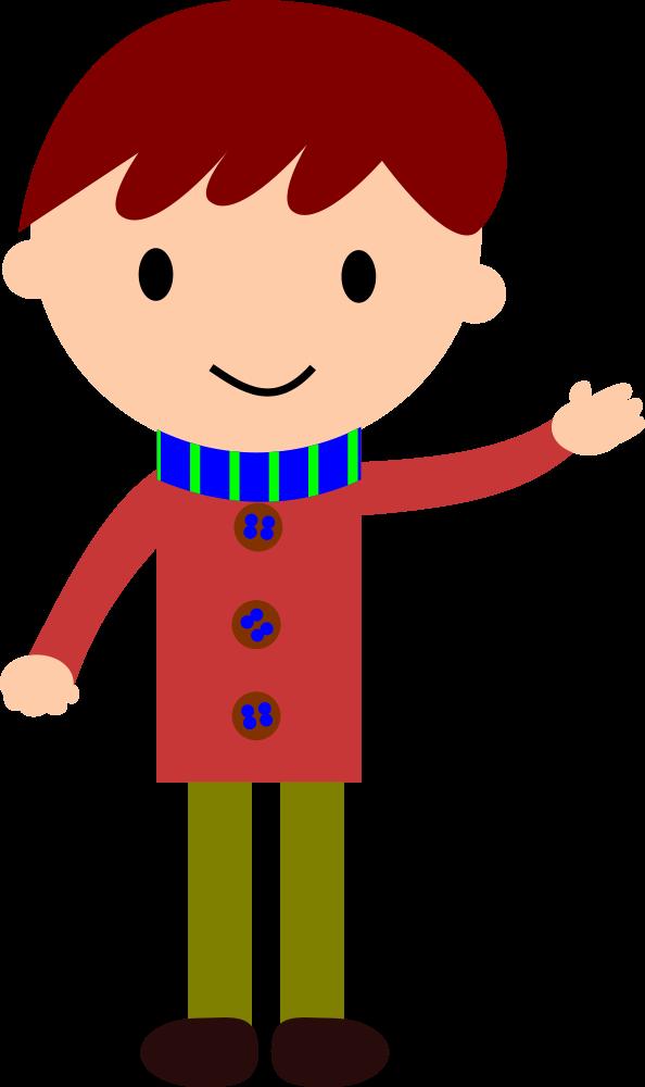 OnlineLabels Clip Art - Boy Waving Hand