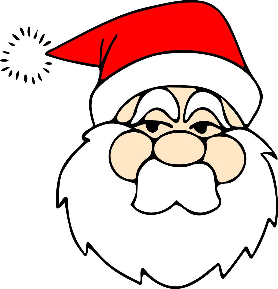 Line Drawing Santa Face : Onlinelabels clip art santa line
