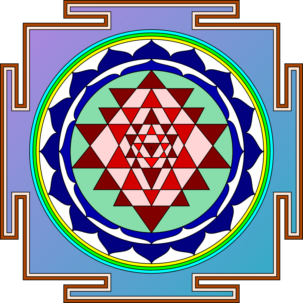 OnlineLabels Clip Art - Sri Yantra