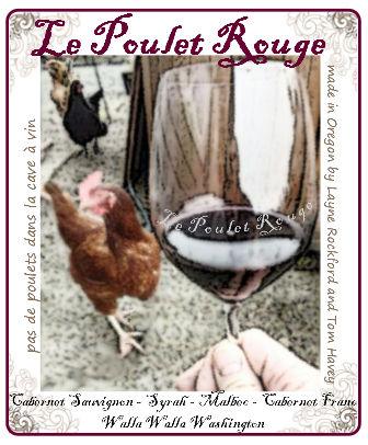 Le Poulet Rouge wine label