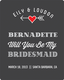 Bridesmaid Wine Label