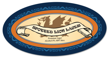 Spotted Lion Lager Label Example